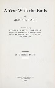 Cover of: A year with the birds | Ball, Alice Eliza