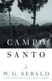 Cover of: Campo Santo | W.G. Sebald