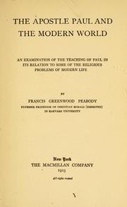 Cover of: The apostle Paul and the modern world | Francis Greenwood Peabody