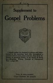 Cover of: Gospel problems supplement | Heber Bennion