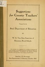 Suggestions for county teachers' associations