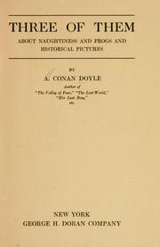 Cover of: Three of them by Sir Arthur Conan Doyle