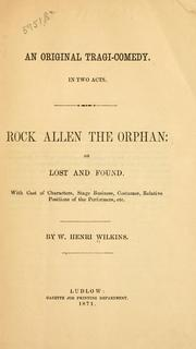 Cover of: Rock Allen the orphan by W. Henri Wilkins