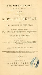 Cover of: Neptune's defeat | John Brougham