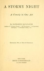 Cover of: A stormy night | Katharine Kavanaugh
