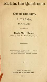 Cover of: Millie | Lizzie May Elwyn