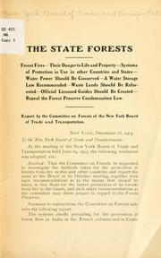 Cover of: The state forests | New York. Board of trade