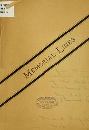 Cover of: Memorial lines for the corner stone of the Michigan soldiers' home | Samuel Wells