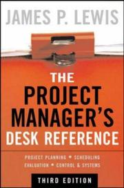 Cover of: The Project Manager's Desk Reference | James P. Lewis