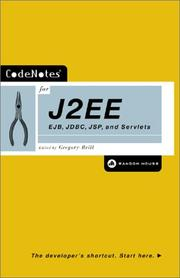 Cover of: CodeNotes for J2EE by Gregory Brill
