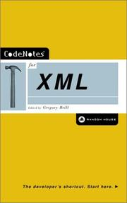 Cover of: CodeNotes for XML | Gregory Brill