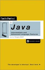 Cover of: Codenotes for Java by Gregory Brill