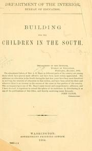 Cover of: Building for the children in the South | Amory Dwight Mayo