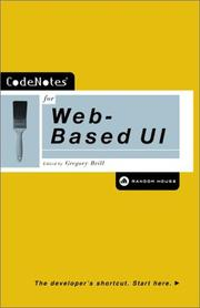 Cover of: Codenotes for Web Based Ui | Gregory Brill