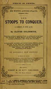 Cover of: She Stoops to Conquer | Oliver Goldsmith