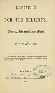 Cover of: Education for the millions | Samuel Wadsworth Gold