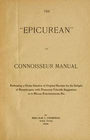 "Cover of: The ""epicurean"" or, connoisseur manual 