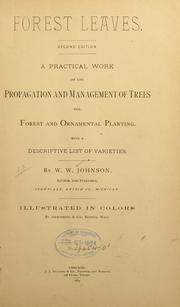 Cover of: Forest leaves | W. W. Johnson