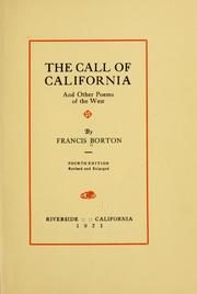 Cover of: The call of California | Francis Borton