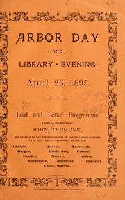 Cover of: Arbor day and library evening, April 26, 1895 | John Terhune