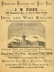 Cover of: Illustrated catalogue and price list by J. W. Fiske Iron Works.