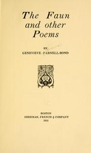 Cover of: The faun | Genevieve (Browne) Farnell
