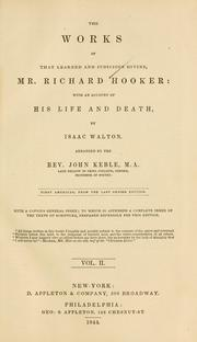 Cover of: Ecclesiastical polity by Hooker, Richard