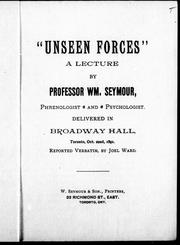 "Cover of: "" Unseen forces"" by William Seymour"