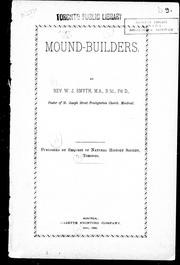 Cover of: Mound-builders | W. J. Smyth