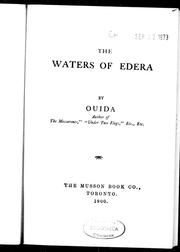 Cover of: The waters of Edera by Ouida