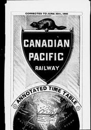Cover of: Annotated time table by Canadian Pacific Railway Company