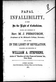 Cover of: Papal infallibility by Stephens, W. A.