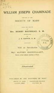 Cover of: William Joseph Chaminade, founder of the Society of Mary | Henry Rousseau