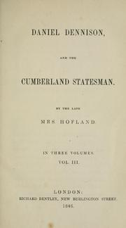 Cover of: Daniel Dennison, and the Cumberland statesman | Barbara Wreaks Hoole Hofland