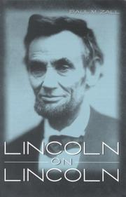 Cover of: Lincoln on Lincoln | Abraham Lincoln