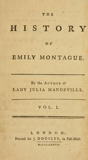Cover of: Emily Montague | Frances Brooke