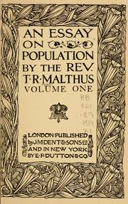 an essay on population open library cover of an essay on population by thomas robert malthus