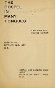 Cover of: The Gospel in many tongues by British and Foreign Bible Society.