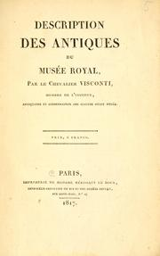 Cover of: Description des antiques du musée royal by Ennio Quirino Visconti