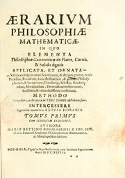Cover of: Aerarium philosophiae mathematicae by Mario Bettini