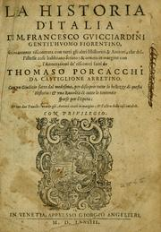 Cover of: La historia d'Italia by Guicciardini, Francesco