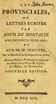 Cover of: Les provinciales by Blaise Pascal