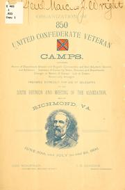 Cover of: Organization of 850 United Confederate veteran camps | United Confederate veterans