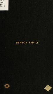 Cover of: Ancestry and family of Caleb and Sarah Benton | Charles Edward Benton