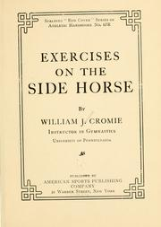 Cover of: Exercises on the side horse | William James Cromie