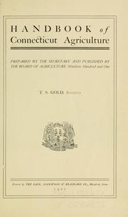 Cover of: Handbook of Connecticut agriculture | Connecticut. State Board of Agriculture.