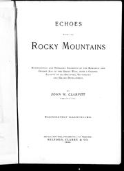 Cover of: Echoes from the Rocky Mountains | John W. Clampitt