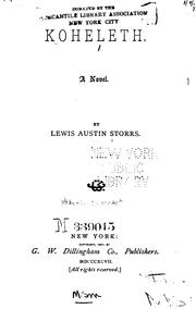 Cover of: Koheleth: A Novel by Lewis Austin Storrs