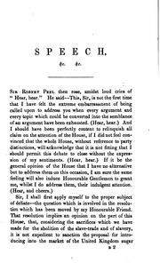 Cover of: Speech ... in the House of commons, on ... May 18, 1841, on the ministerial financial budget by Robert Peel