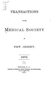 Cover of: Transactions by Medical Society of New Jersey